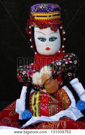 Rag doll toys folklore souvenir flea market.