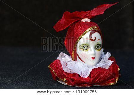 Head doll bust art object flea market.