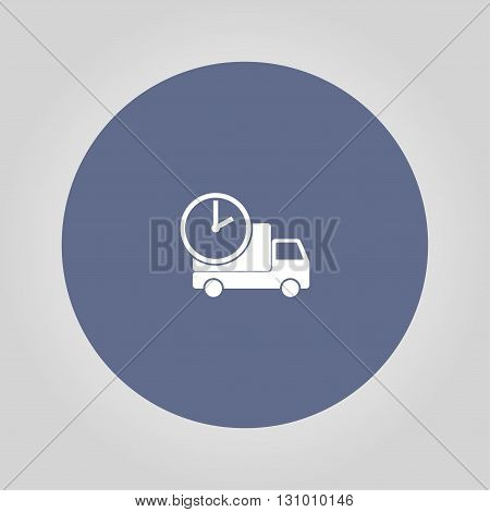 home delivery web icon. Modern design flat style icon