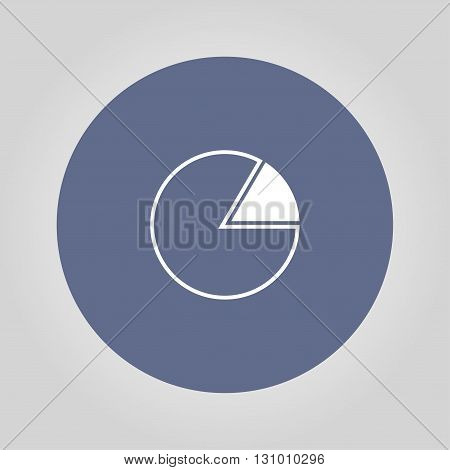 Business pie chart icon Info graphics. Modern design flat style icon