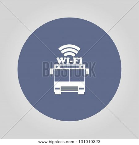bus wi-fi vector icon. Modern design flat style icon