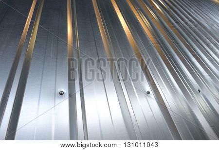 Folded metal zinc sheet in steel plant