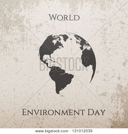 World Environment Day Ecology Background Template. Vector Illustration.