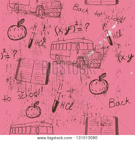 Semless texture about school. Vector illustration EPS10