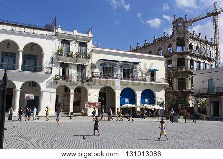 Street Scene In Old Havana During Winter