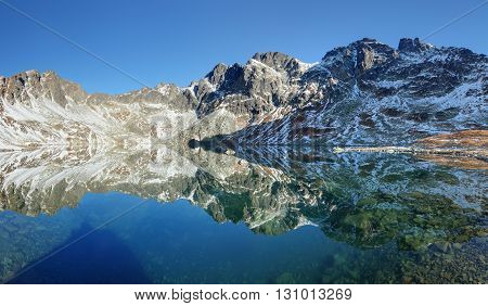 Lake in Tatras mountain Slovakia at a day