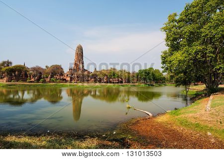 Wat Phra Ram With Reflection, Ayutthaya