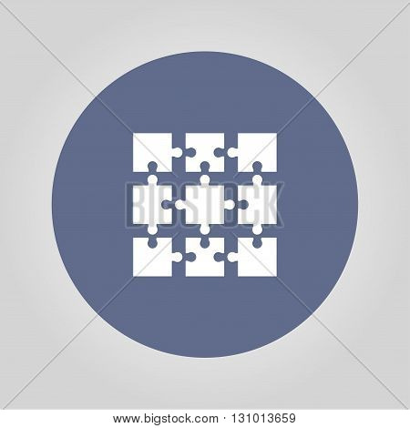 Puzzle Icon. Modern design flat style EPS