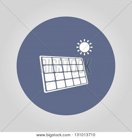 Solar energy panel. Modern design flat style