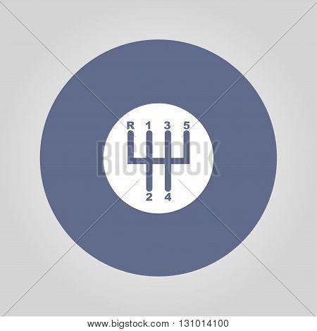 Manual Transmission icon. Modern design flat style