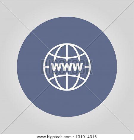 Internet - vector icon. Modern design flat style