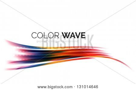 Vector abstract color wave design element