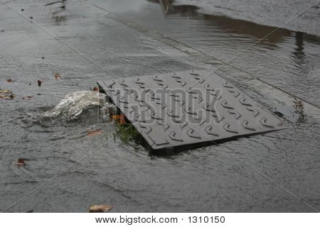 Sewer Cover Lifted
