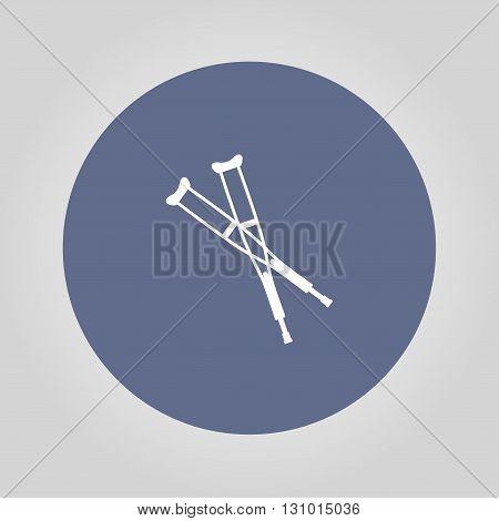 Crutches icon. Modern design flat style EPS