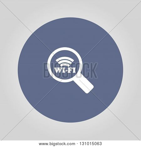 Search wi-fi connection flat icon. Vector concept illustration for design.