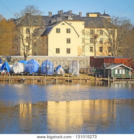 landscape with the image of Stockholm, Sweden