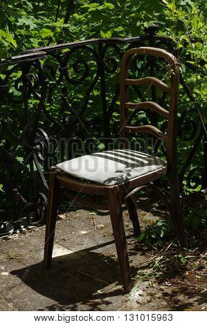 Old chair romantic still life antique furniture.