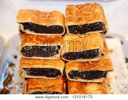 Hungarian Specialty Stuffed Strudel With Poppy Seeds