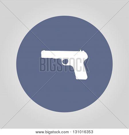Gun icon. Vector concept illustration for design.