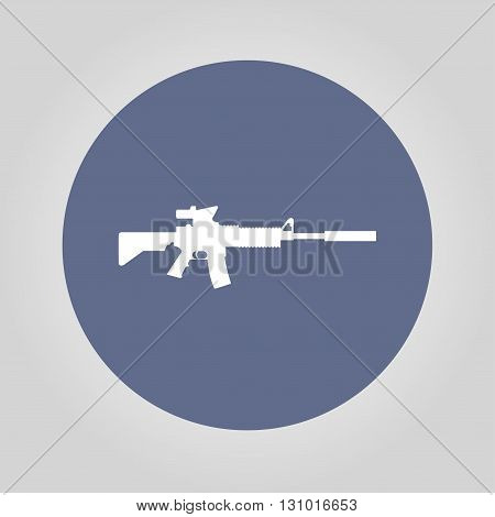 machine gun icon. concept illustration for design.
