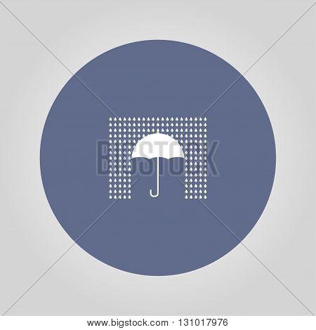 Umbrella sign icon. Rain protection symbol. Flat design style