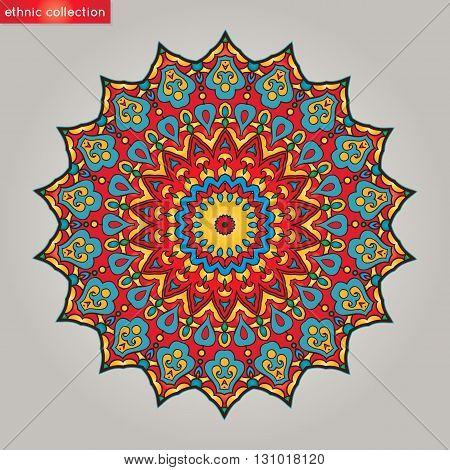 Mandala. Vintage decorative elements. Oriental pattern. Vector illustration. Islam Arabic Indian Turkish Pakistan Chinese Ottoman motifs