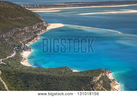 Beautiful landscape view of the National Park Arrabida in SetubalPortugal.