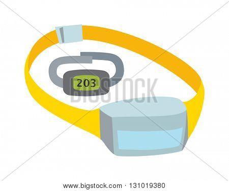 Measuring pulse vector illustration.
