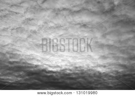 Cloud sky black and white may be used as background.