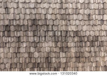 Seamless roof tiles texture and background, close up