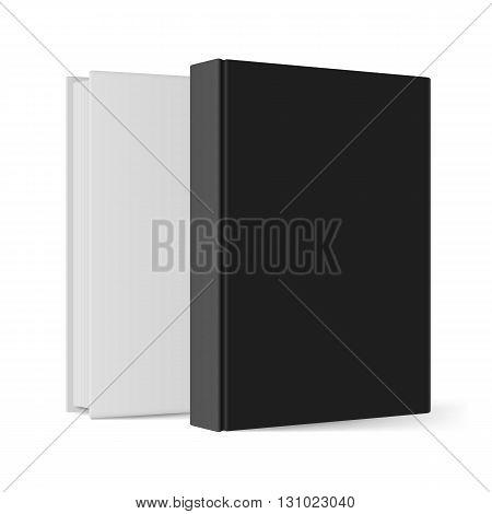 Black and white books. Illustration on white background for design
