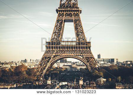 The Eiffel Tower - most famous landmark of Paris