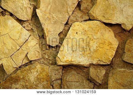 retro stone wall background texture. close up
