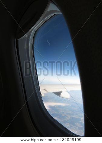 Aerial View From Aircraft Window