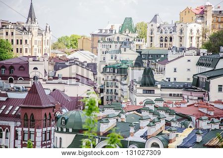 Roofs Of Houses, The Streets Of Kiev