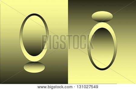 Abstract mirror - way into the real world In the picture shows two opposing mirrors that indicates the two worlds.
