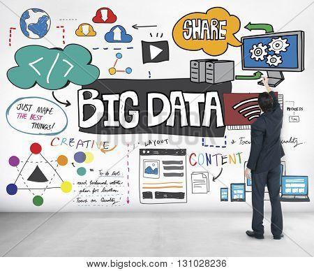 Big Data Information Storage Server Online Technology Concept