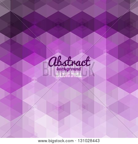 Abstract hexagonal Shape Background for Business Design Print Presentation