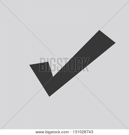 Black check mark icon - vector illustration. Simple flat check icon.