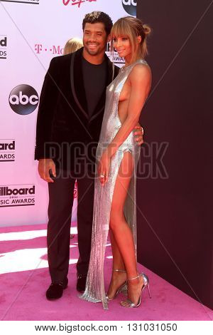 LAS VEGAS - MAY 22:  Russell Wilson, Ciara Harris at the Billboard Music Awards 2016 at the T-Mobile Arena on May 22, 2016 in Las Vegas, NV