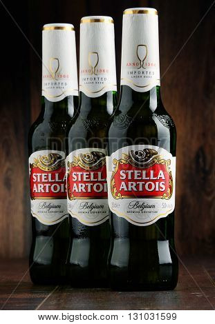 Three Bottles Of Stella Artois Beer