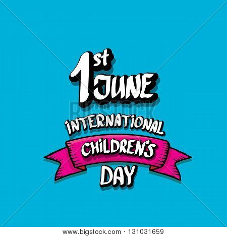 1 june international childrens day background. happy Children day greeting card. kids day poster