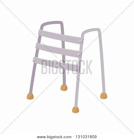 Walkers icon in cartoon style isolated on white background. Convenience for disabled symbol