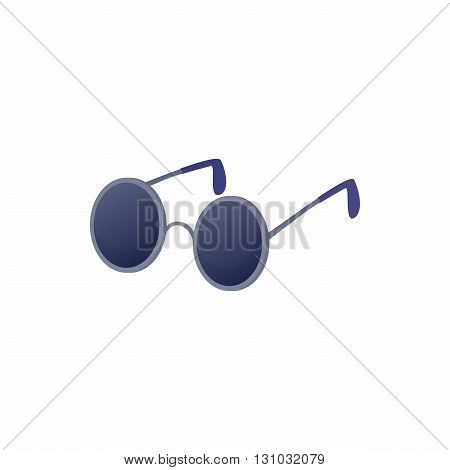 Glasses for blind icon in cartoon style isolated on white background. Convenience for disabled symbol