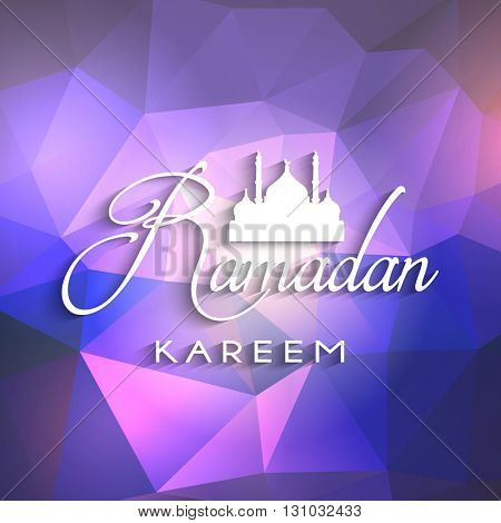 Decorative Ramadan background with geometric design