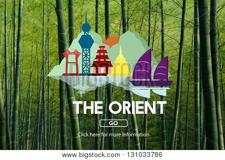 Orient Culture Famous Landmark East Tourism Concept