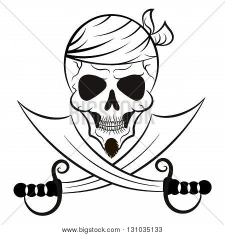 skull and swords patch pirate of the Caribbean