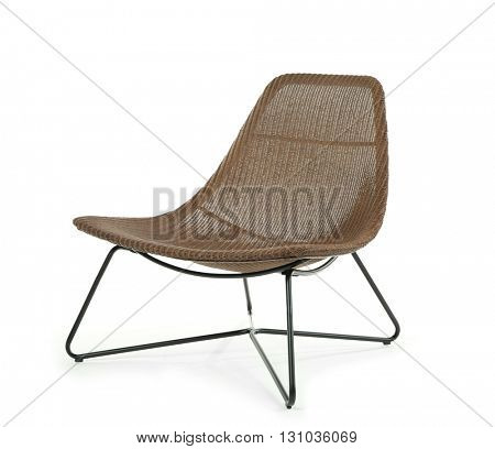 Comfortable chair isolated on white
