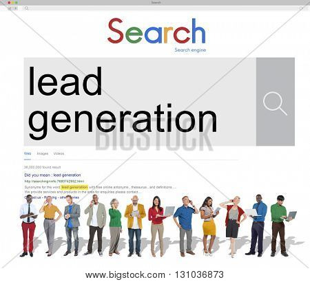 Group of People Connect Technology Device Search Concept