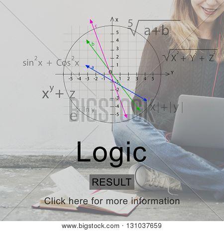 Logic Coordinates Axis Math Concept